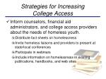 strategies for increasing college access