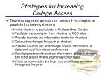strategies for increasing college access1
