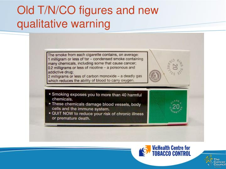 Old T/N/CO figures and new qualitative warning