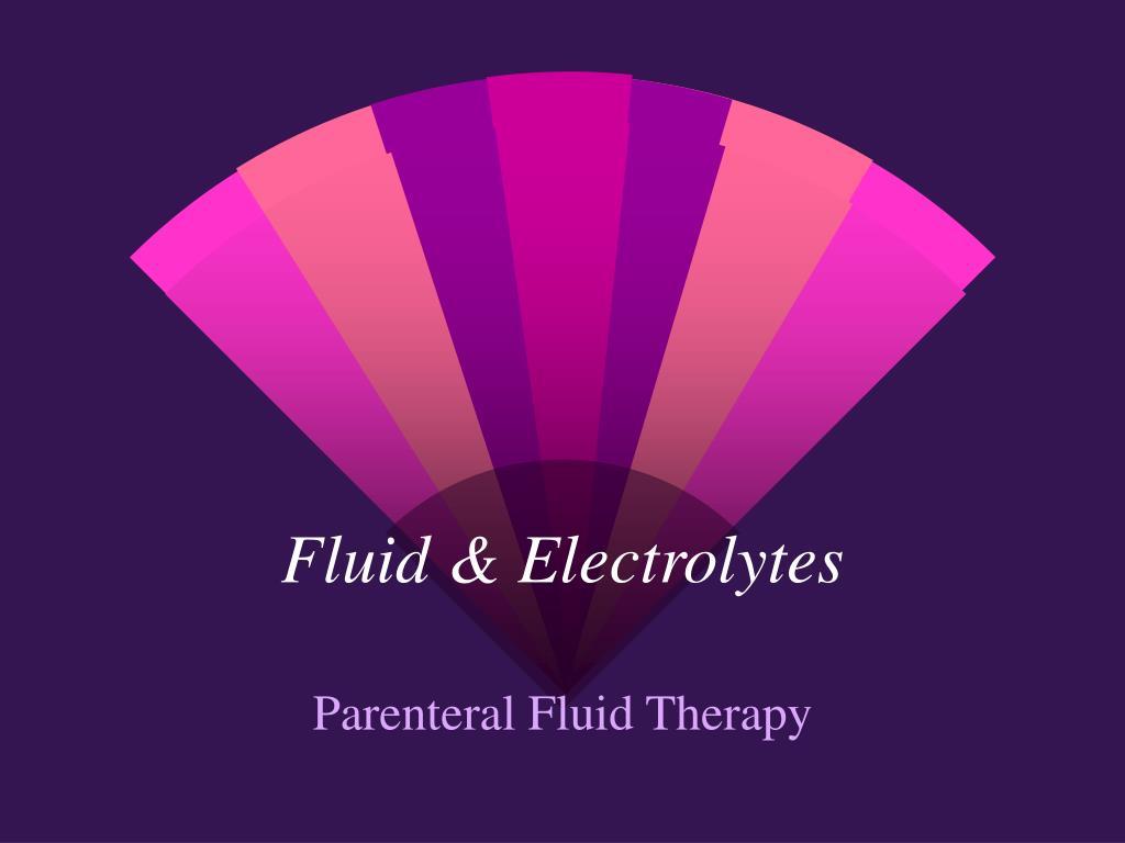 fluid electrolytes l.