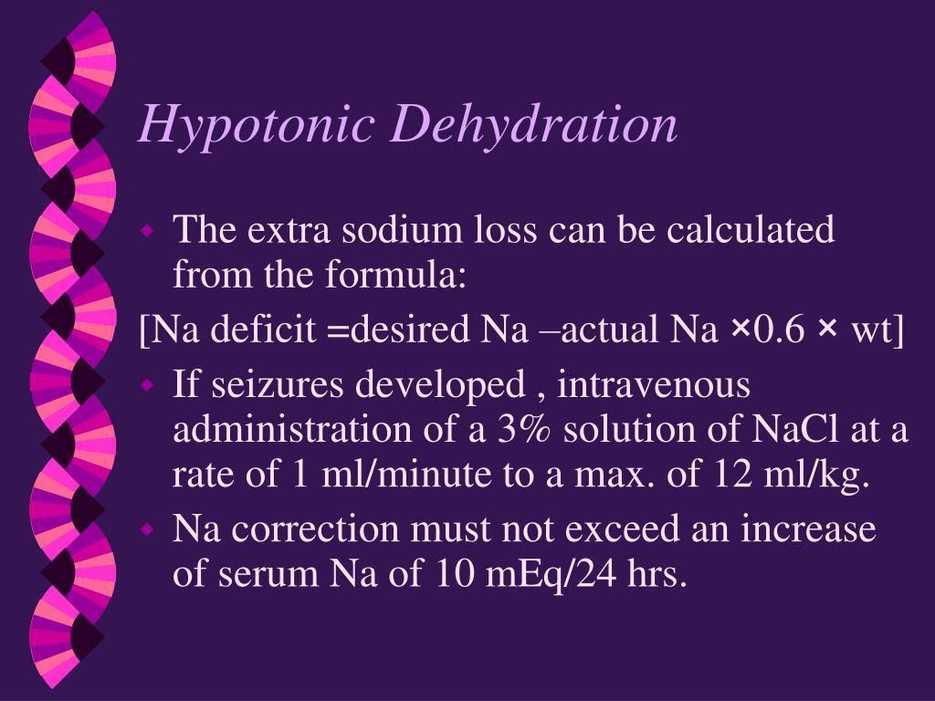 Hypotonic Dehydration
