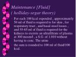 maintenance fluid holliday segar theory