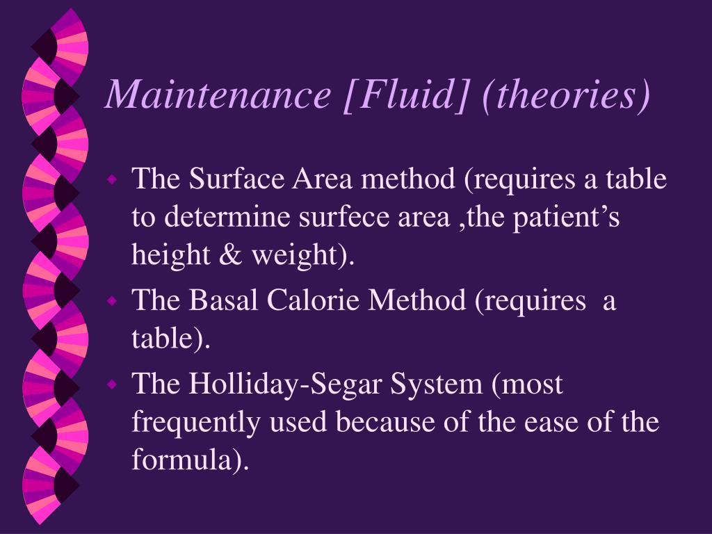 Maintenance [Fluid] (theories)