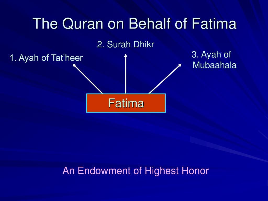 Ppt Fatima Al Zahra Powerpoint Presentation Free
