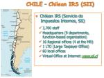 chile chilean irs sii