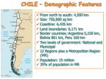 chile demographic features