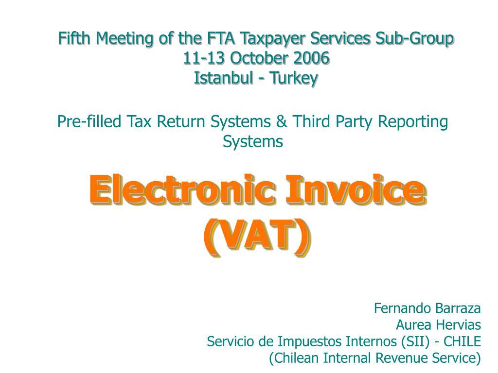 electronic invoice vat l.