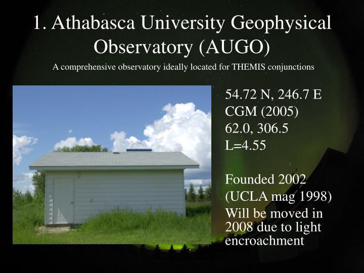 1 athabasca university geophysical observatory augo