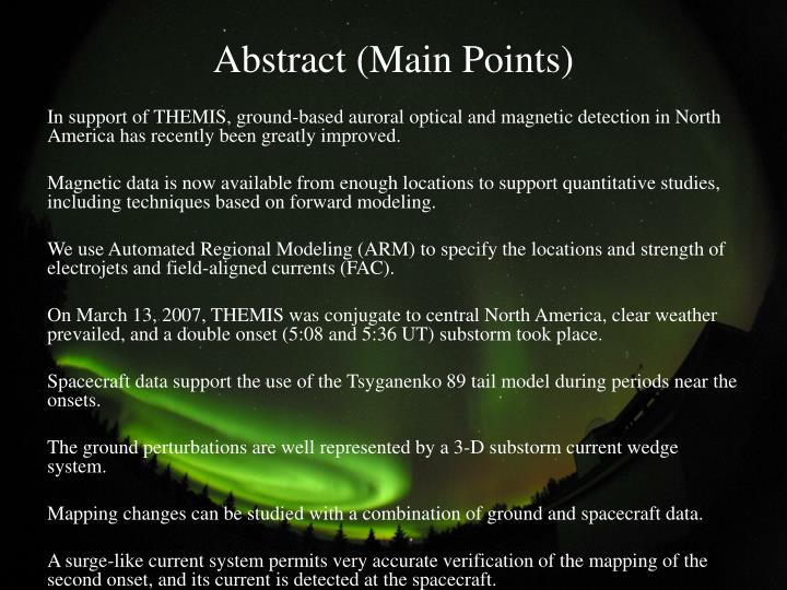 Abstract main points