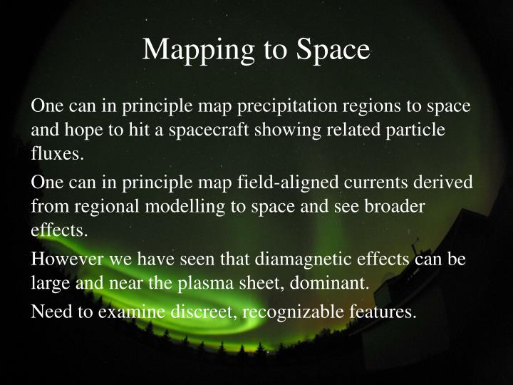 Mapping to Space