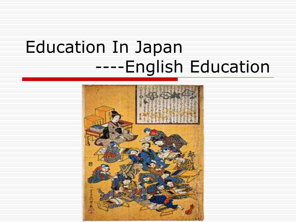 education in japan english education l.