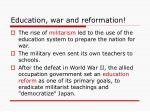 education war and reformation