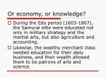 or economy or knowledge