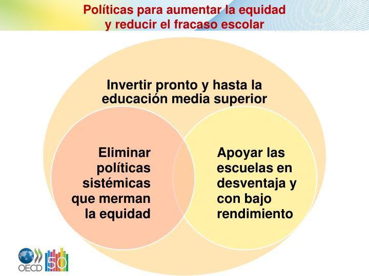 Políticas para aumentar la equidad
