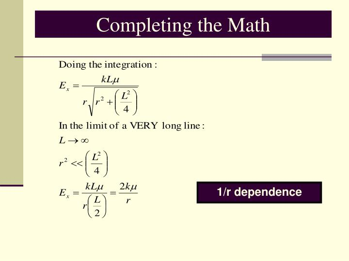 Completing the Math