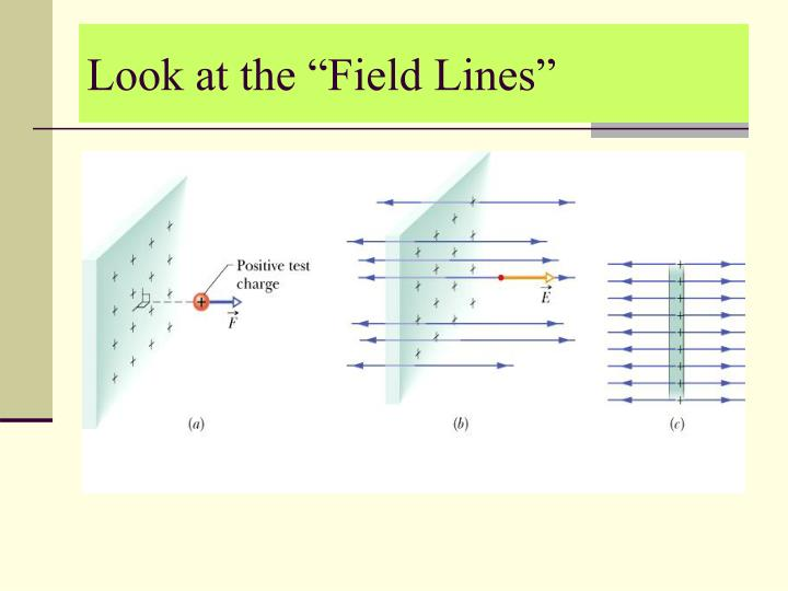 """Look at the """"Field Lines"""""""