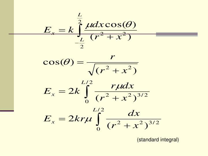 (standard integral)