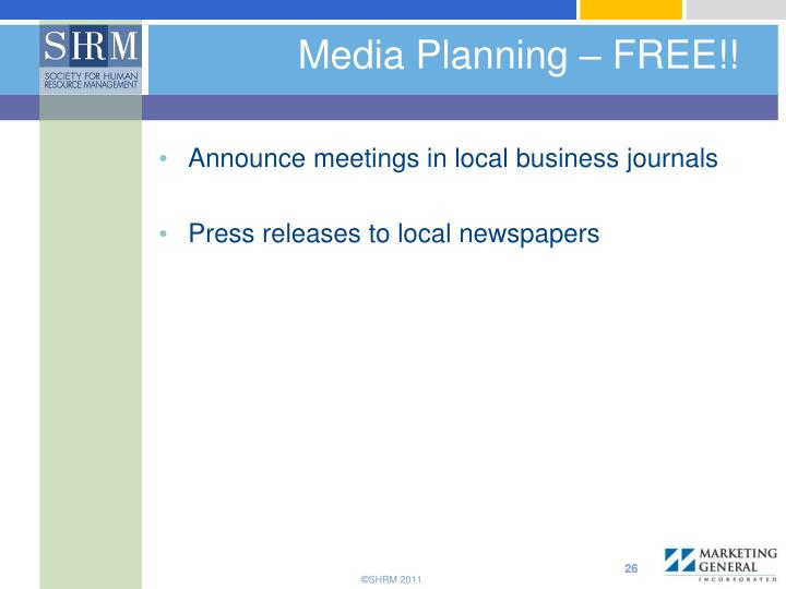 Media Planning – FREE!!