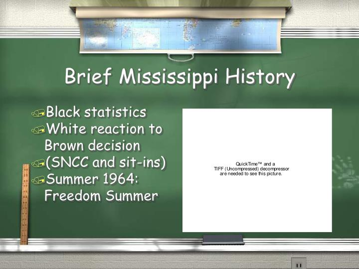 Brief Mississippi History