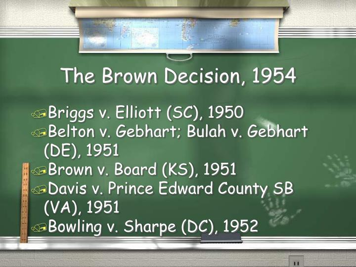 The Brown Decision, 1954