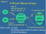 a word about scope10