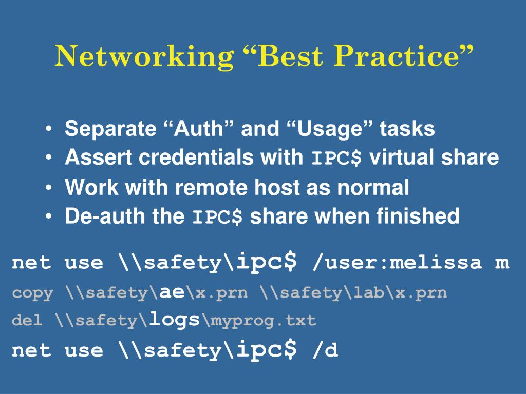 """Networking """"Best Practice"""""""