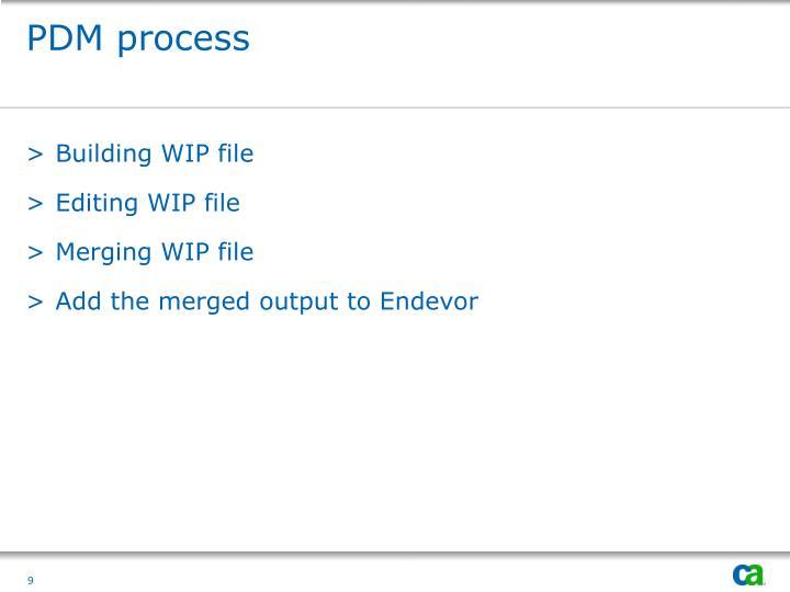 PDM process