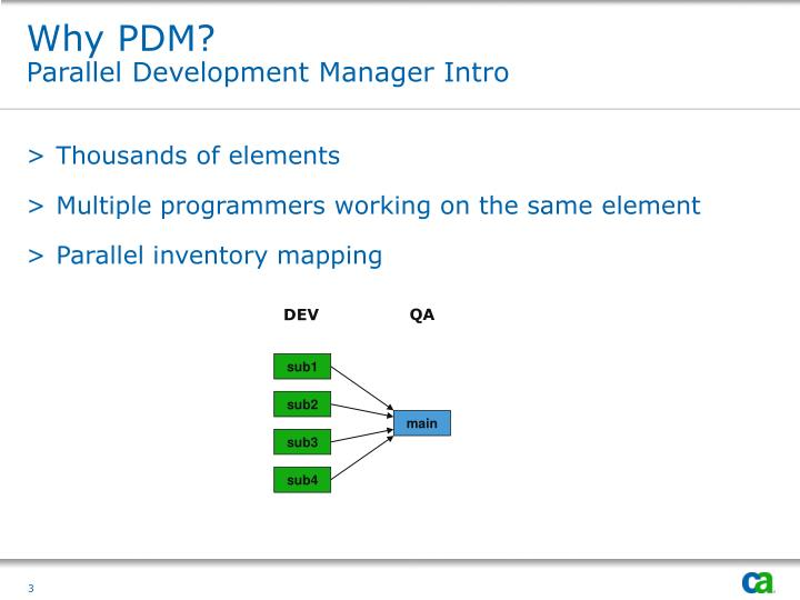 Why pdm parallel development manager intro