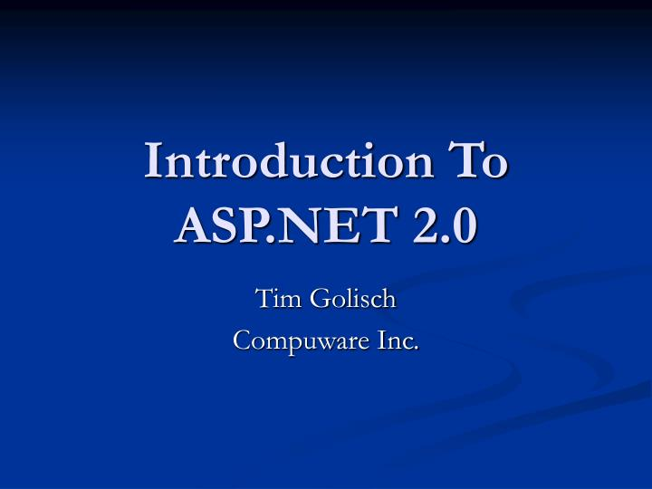 introduction to asp net 2 0 n.