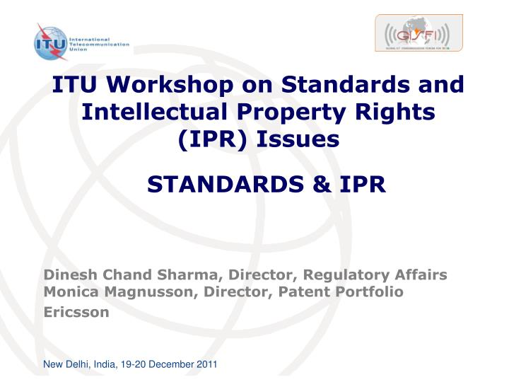 itu workshop on standards and intellectual property rights ipr issues n.