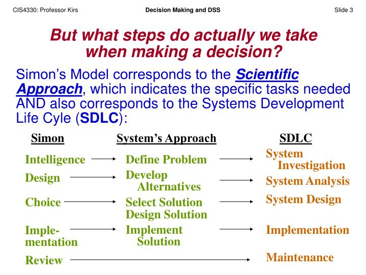 design and implementation of a decision