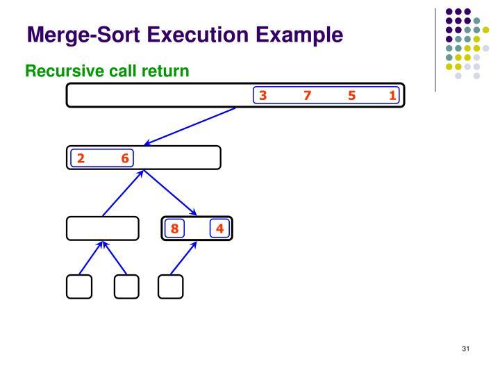 Merge-Sort Execution Example