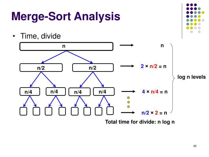 Merge-Sort Analysis