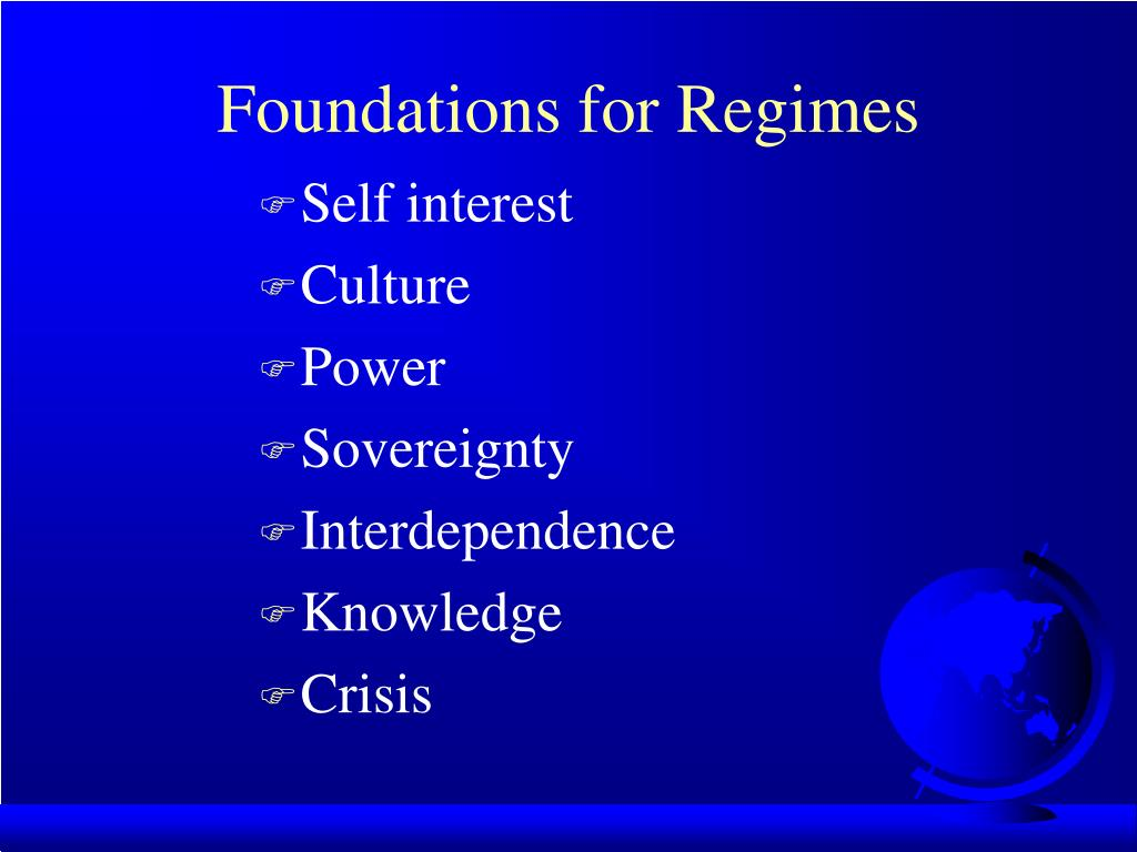 Foundations for Regimes