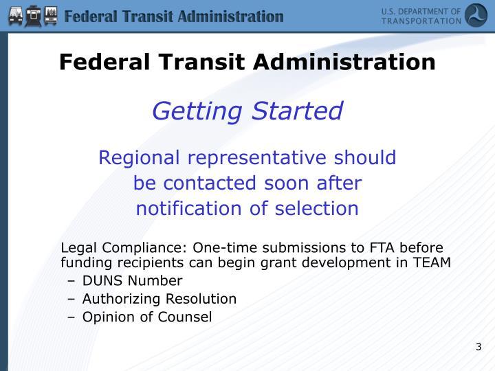 Federal transit administration3