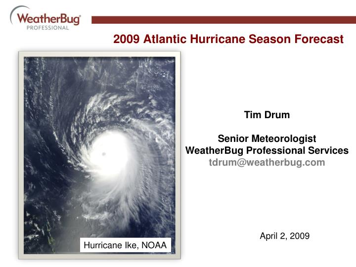 2009 atlantic hurricane season forecast n.