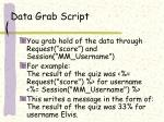 data grab script