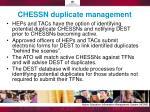 chessn duplicate management