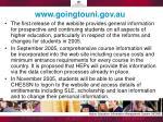 www goingtouni gov au