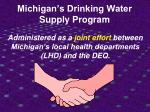 michigan s drinking water supply program16