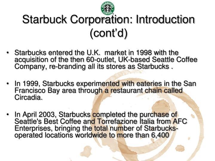starbucks introduction