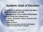 academic goals of education