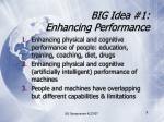 big idea 1 enhancing performance