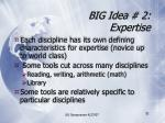 big idea 2 expertise