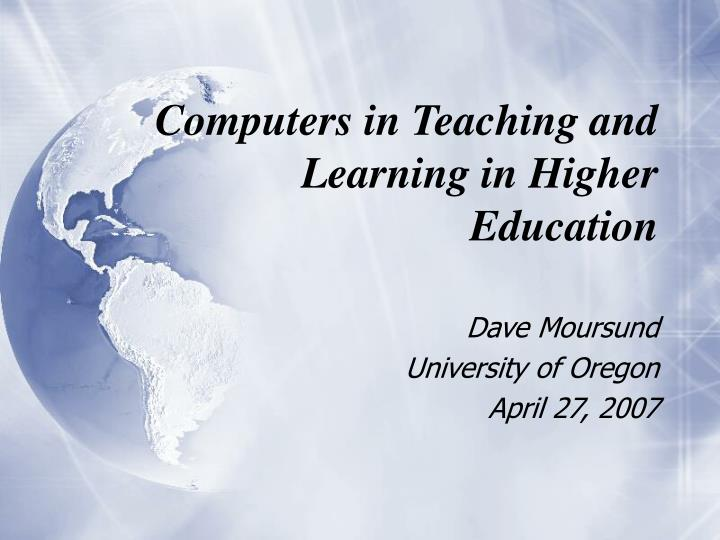 computers in teaching and learning in higher education n.