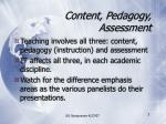 content pedagogy assessment