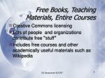 free books teaching materials entire courses