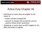 active duty chapter 33