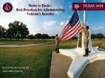 boots to books best practices for administering veteran s benefits