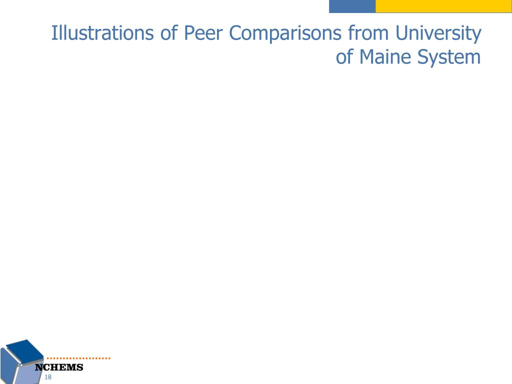 Illustrations of Peer Comparisons from University of Maine System